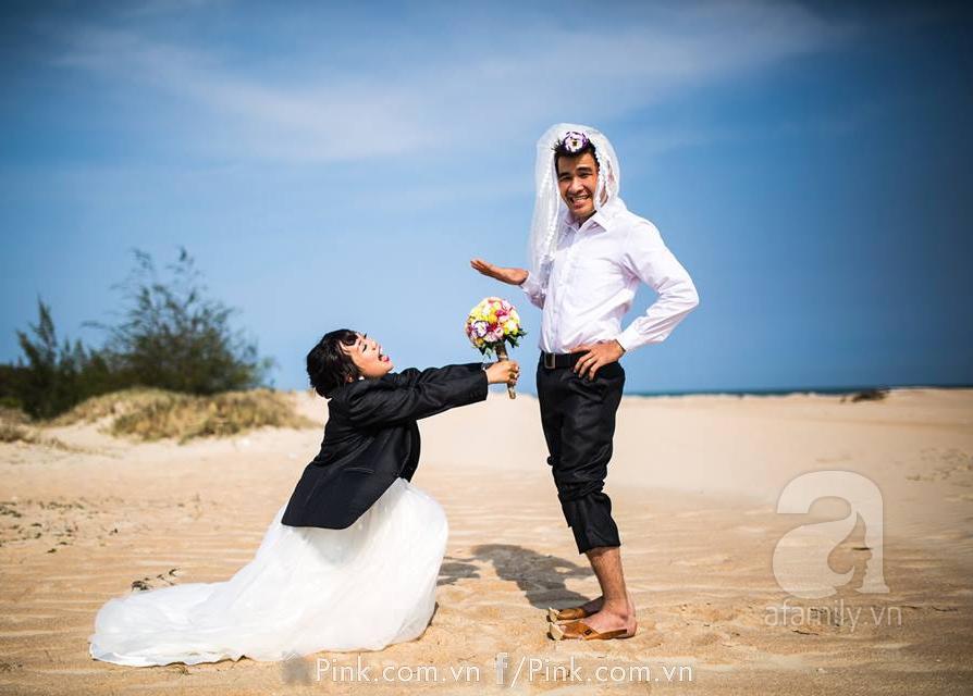 ảnh cưới vợ béo chồng gầy