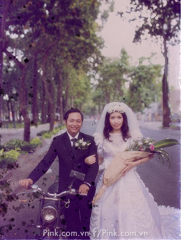 """Album ảnh được đặt tên là """"Cái tình ngày xưa"""" là một album cưới tái hiện lại khung cảnh Sài Gòn những năm thập niên 80…"""